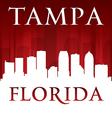 Tampa florida city skyline silhouette vector