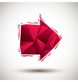 Red arrow geometric icon made in 3d modern style vector