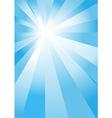 Blue light burst vector