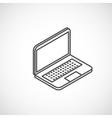 Isometric icon of laptop vector