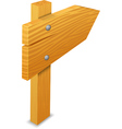 Wooden arrow vector