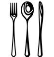Cutlery abstract vector
