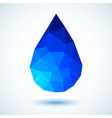 Geometric blue drop for your design vector