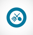 Farm bold blue border circle icon vector