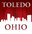 Toledo ohio city skyline silhouette vector