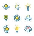 Idea icons set isolated on white background vector