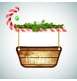 Christmas candy with wooden board vector