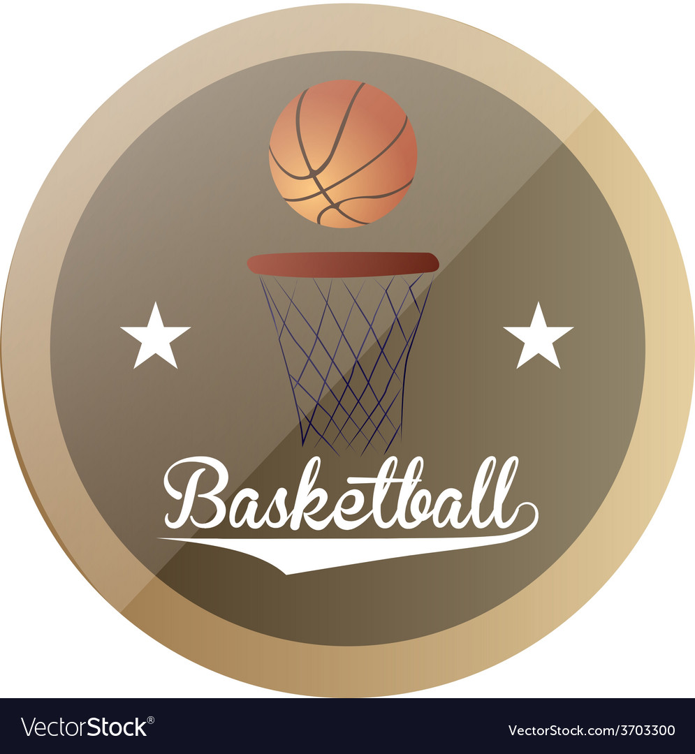 An isolated label with text stars and a basketball vector | Price: 1 Credit (USD $1)