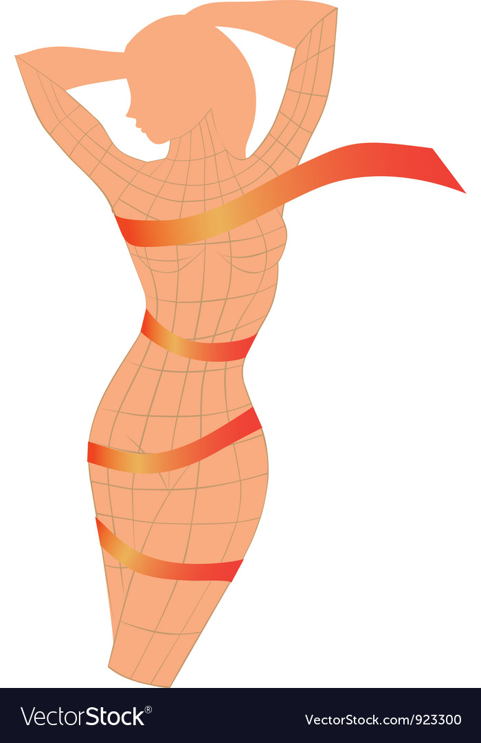 Body ribbon vector | Price: 1 Credit (USD $1)