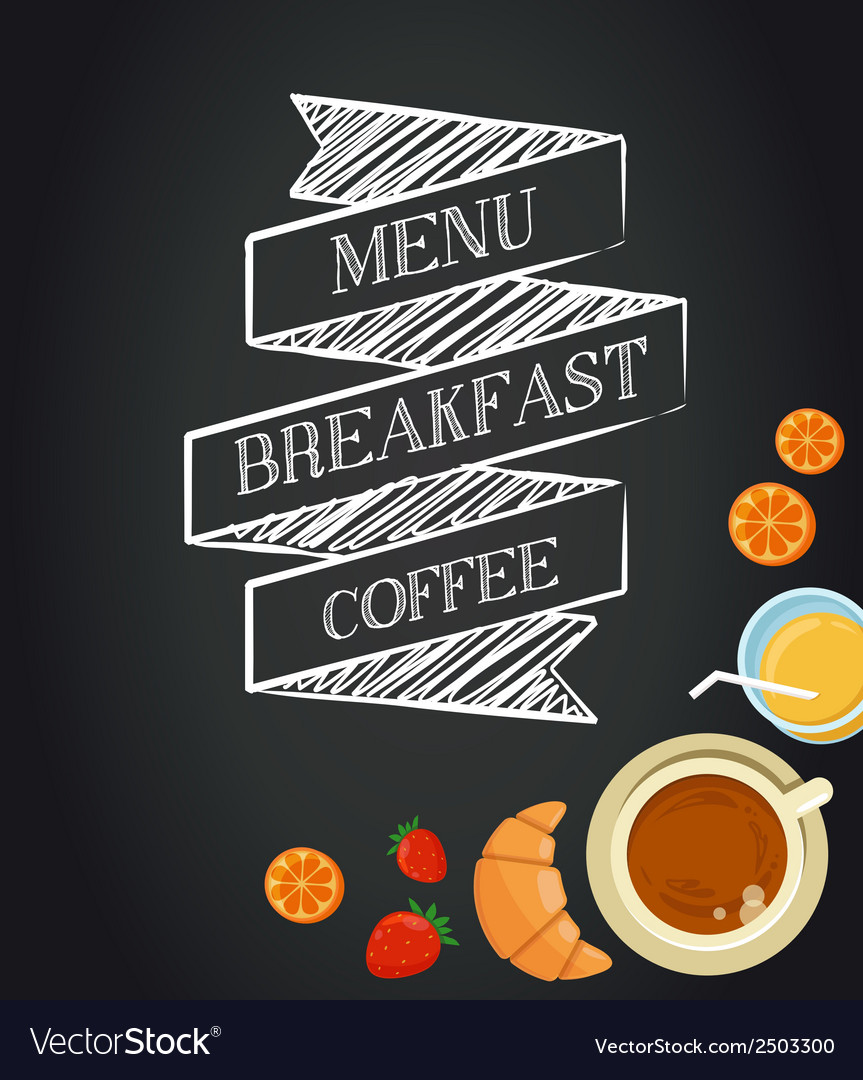 Breakfast menu template vector | Price: 1 Credit (USD $1)