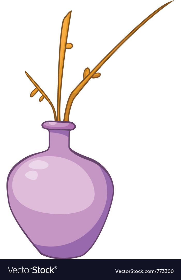 Cartoon home vase vector | Price: 1 Credit (USD $1)