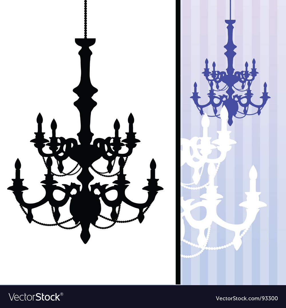 Chandelier on blue striped background vector | Price: 1 Credit (USD $1)