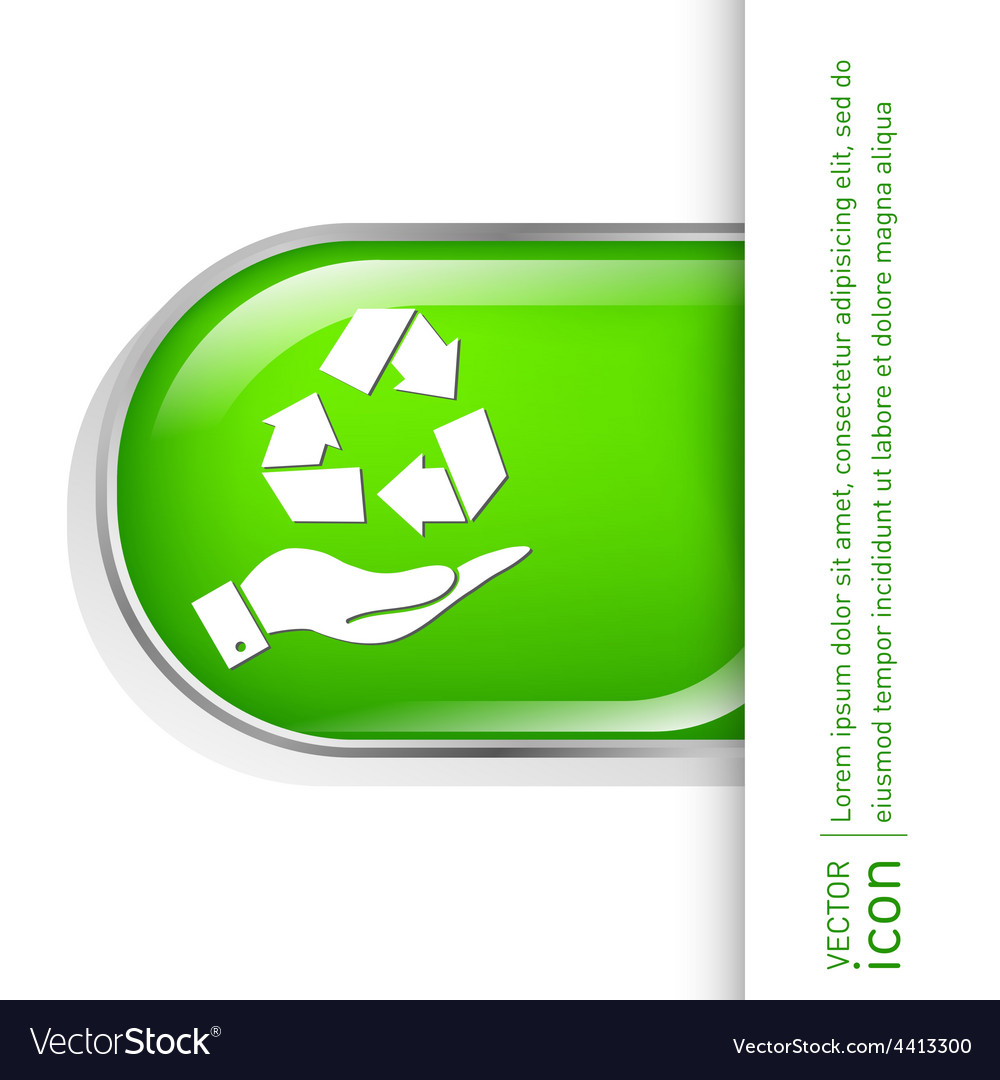 Hand holding recycle symbol vector   Price: 1 Credit (USD $1)