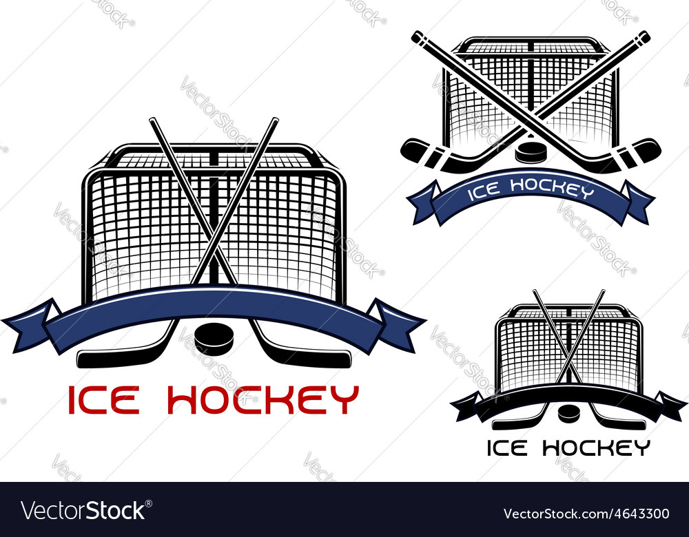 Ice hockey game sports symbols vector | Price: 1 Credit (USD $1)