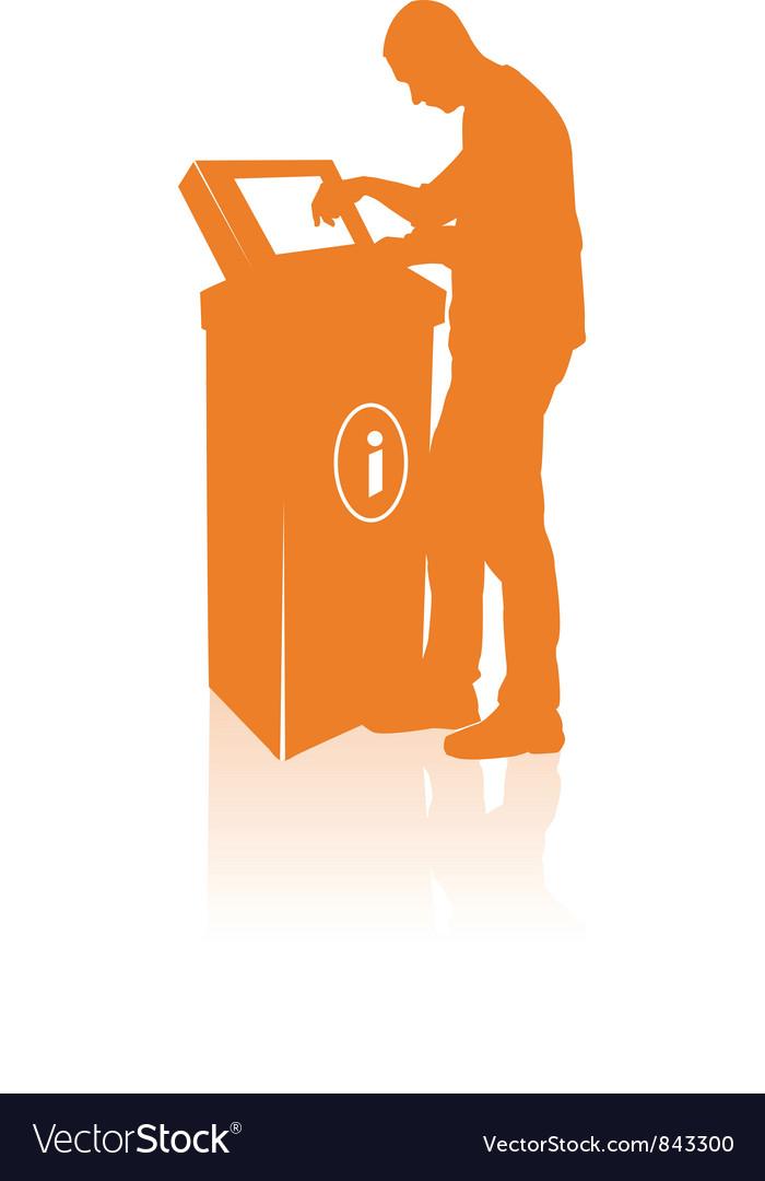Kiosk silhouette vector