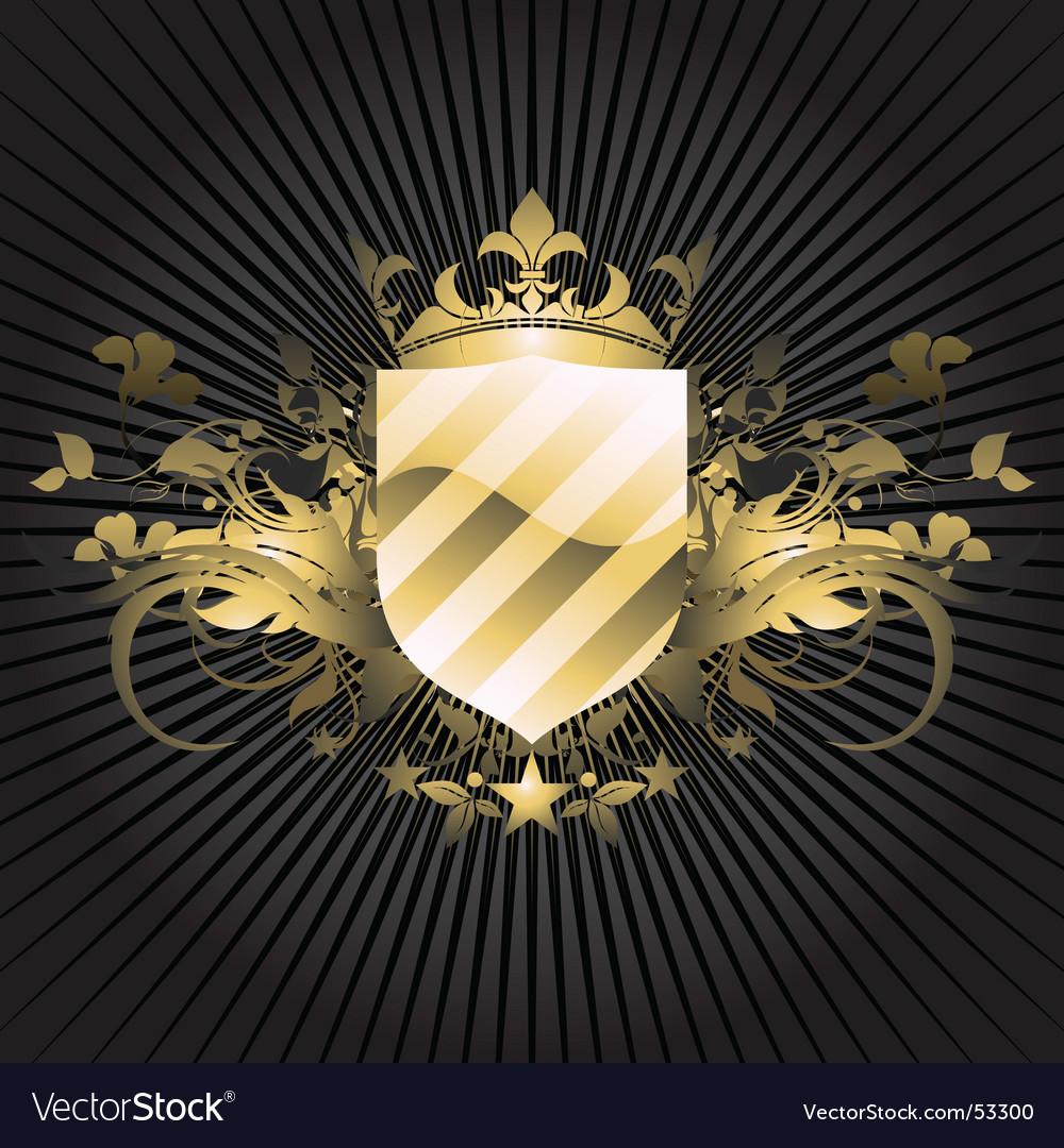 Ornamental shield vector   Price: 1 Credit (USD $1)
