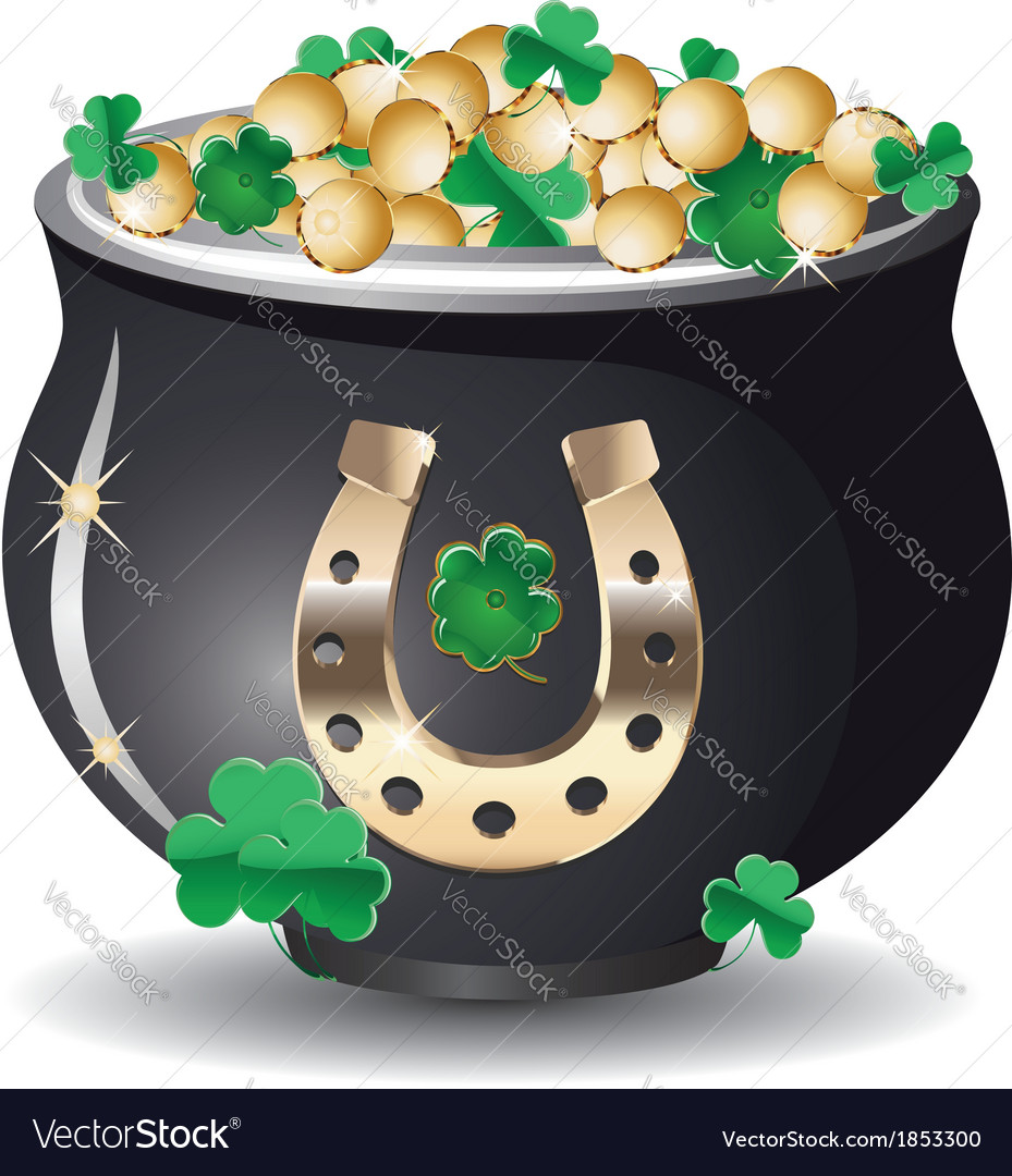 Pot of gold3 vector | Price: 1 Credit (USD $1)