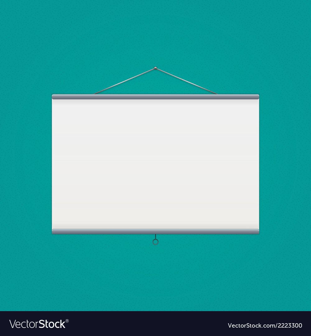 Projector screen over green vector | Price: 1 Credit (USD $1)