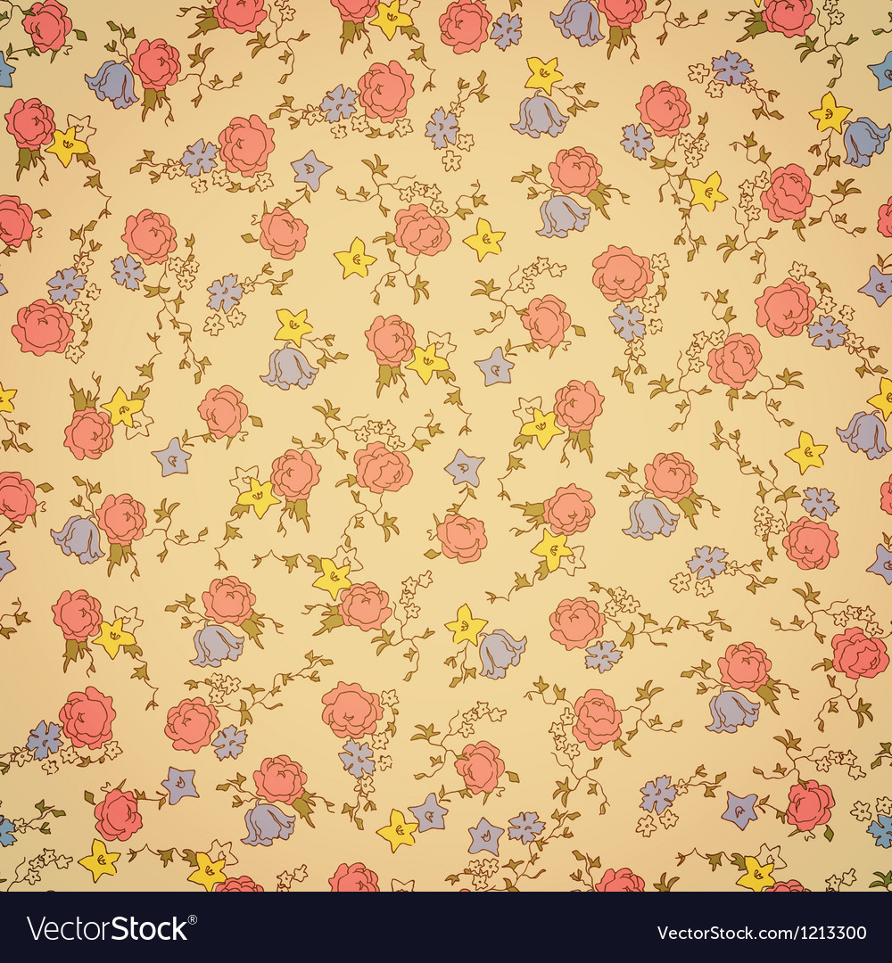 Retro floral seamless vector | Price: 1 Credit (USD $1)