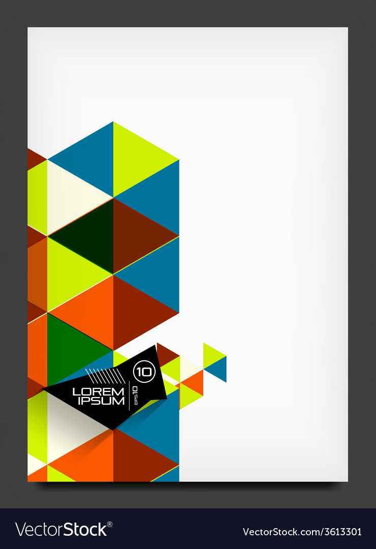 Abstract modern flyer - brochure template vector | Price: 1 Credit (USD $1)