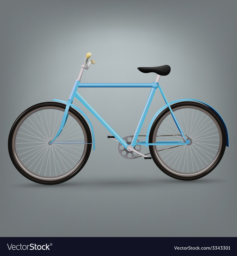 Blue bicycle vector | Price: 3 Credit (USD $3)