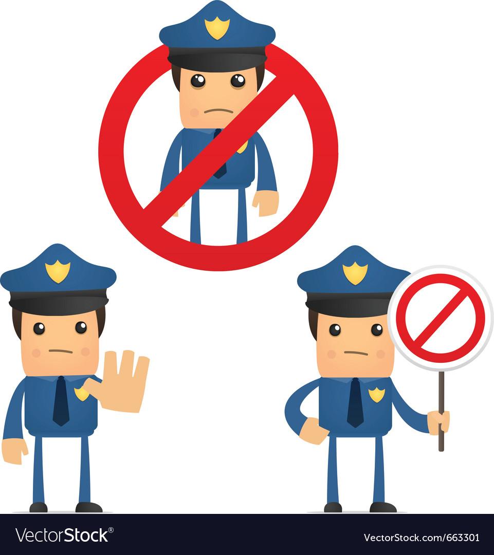 Cartoon policeman vector   Price: 1 Credit (USD $1)
