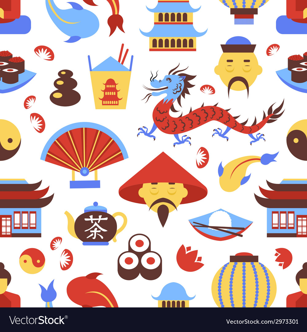 China seamless pattern vector | Price: 1 Credit (USD $1)