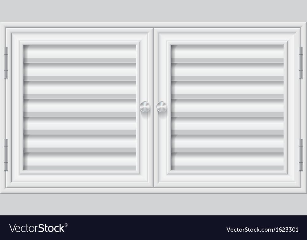 Door shutters on isolate background vector | Price: 1 Credit (USD $1)