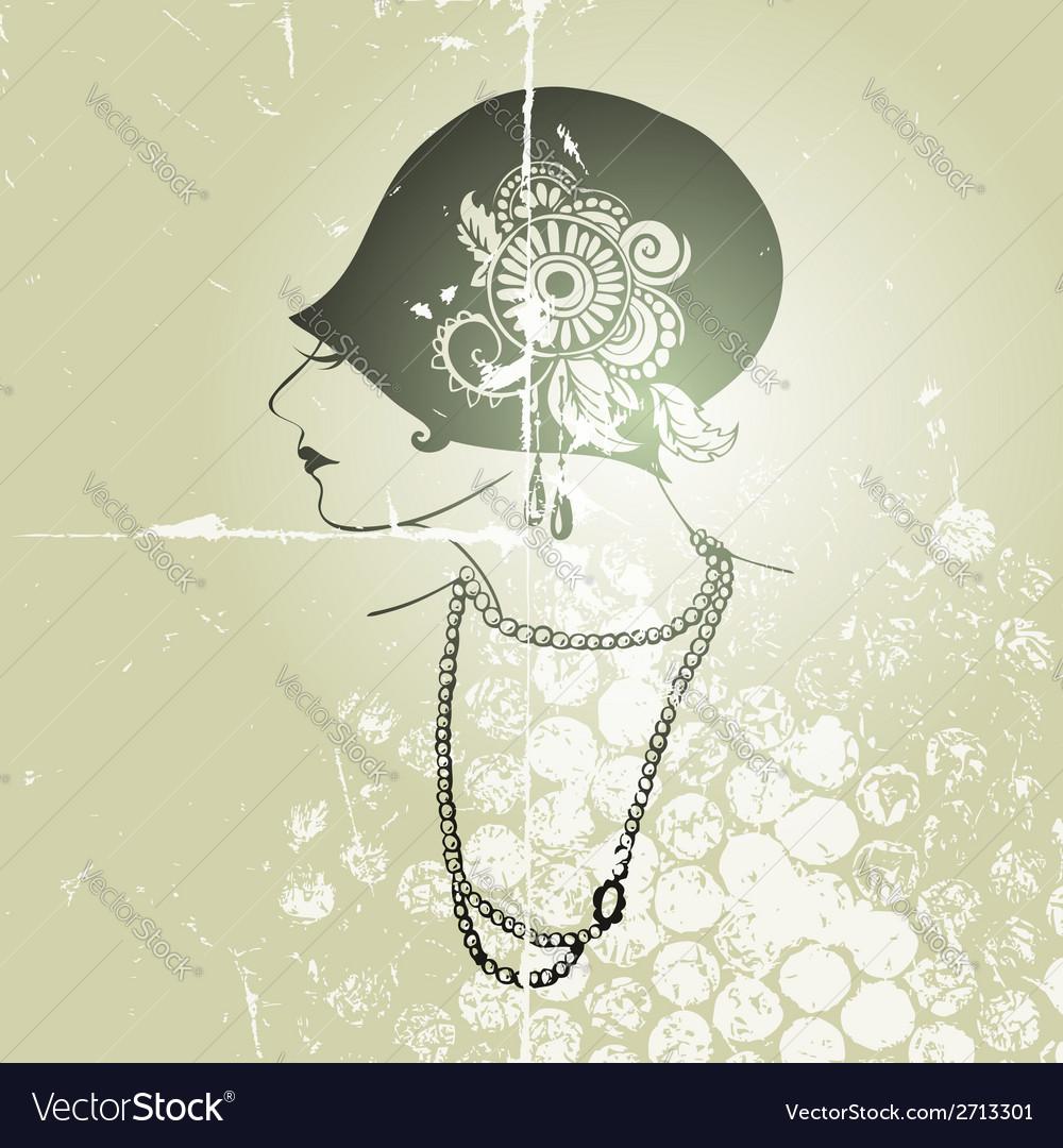 Flapper girl vector | Price: 1 Credit (USD $1)