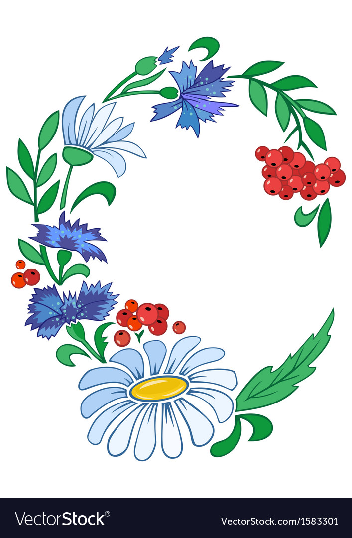 Frame from flowers vector   Price: 1 Credit (USD $1)