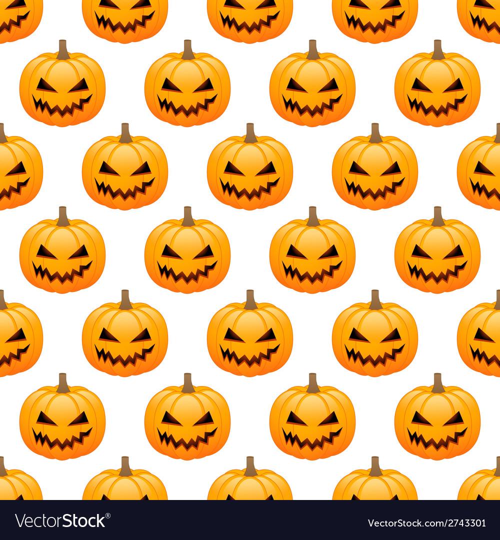 Halloween pumpkins seamless background vector | Price: 1 Credit (USD $1)