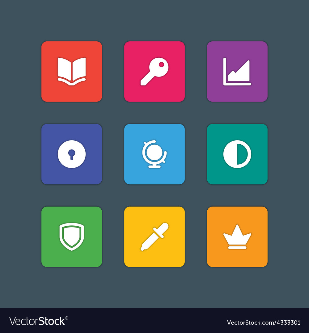 Material design style icons sign and symbols vector | Price: 1 Credit (USD $1)