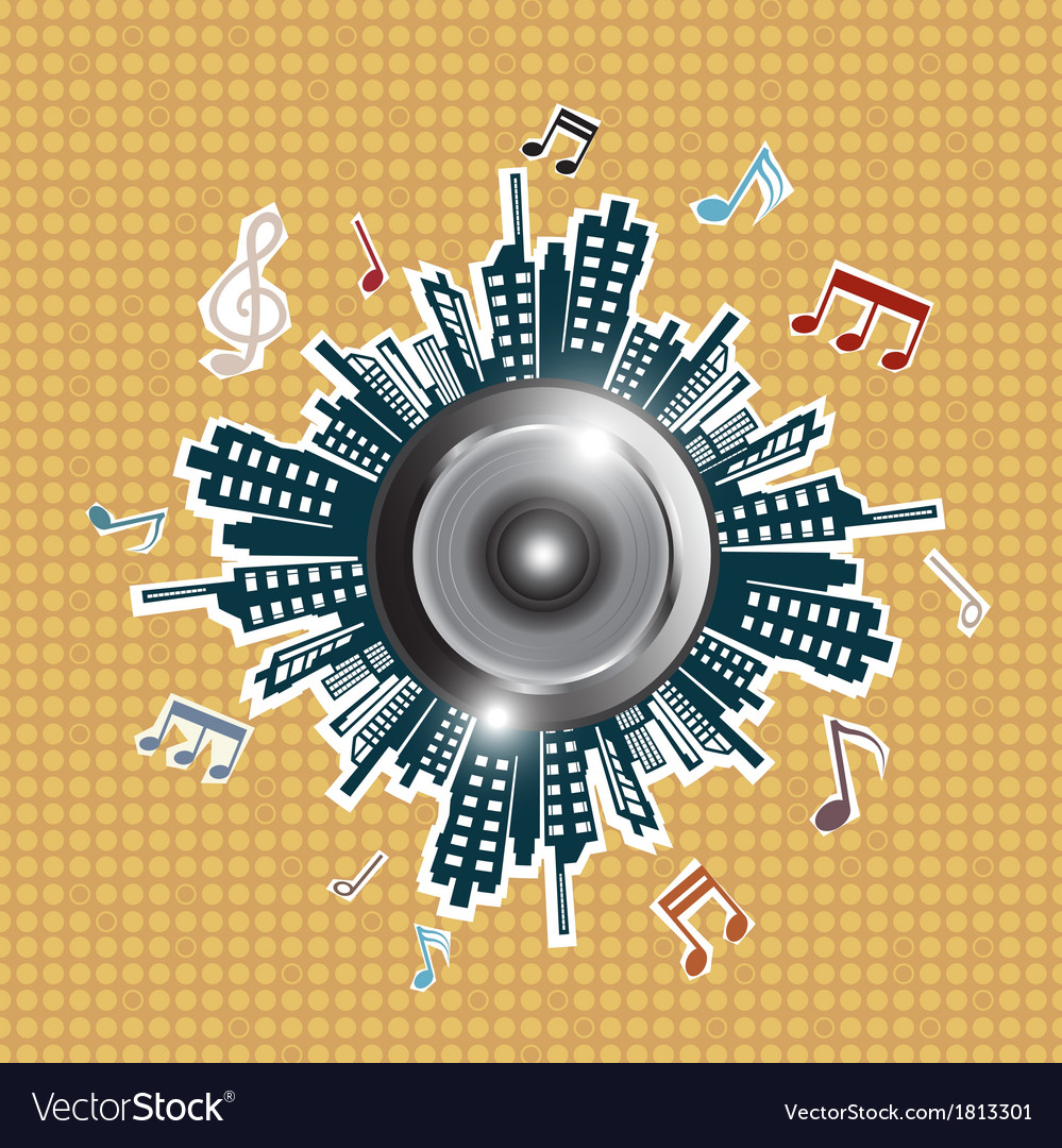 Music in the city vector | Price: 1 Credit (USD $1)