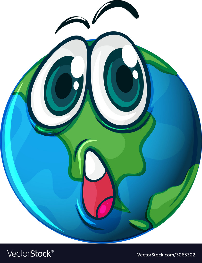 A planet with a face vector | Price: 1 Credit (USD $1)