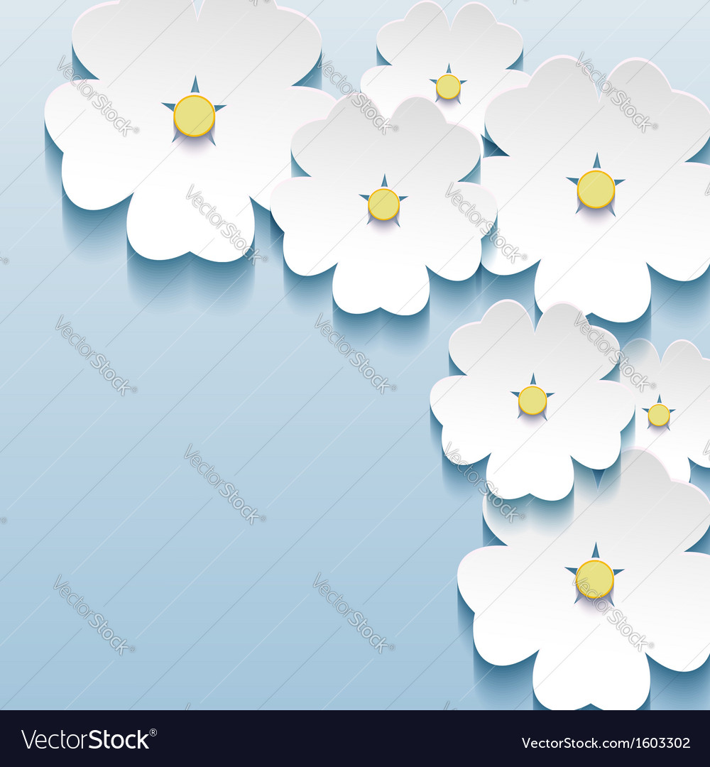 Abstract floral background with flower 3d vector | Price: 1 Credit (USD $1)
