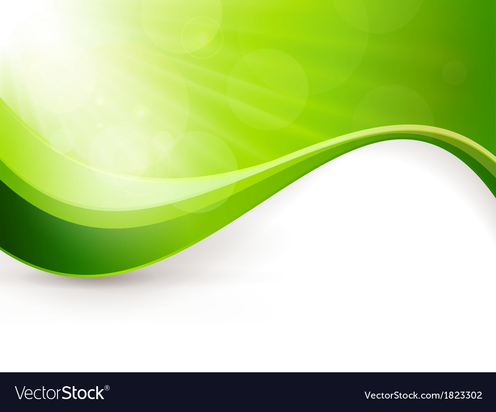 Abstract green light burst background vector | Price: 1 Credit (USD $1)