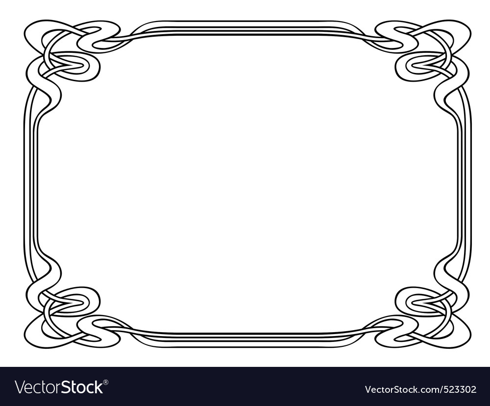 Art nouveau ornamental decorative frame vector | Price: 1 Credit (USD $1)