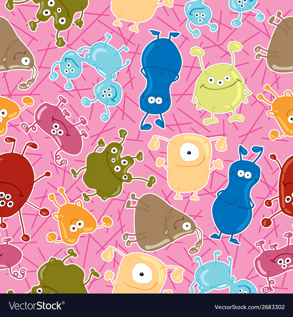 Bacteria seamless pattern medicine background vector | Price: 1 Credit (USD $1)