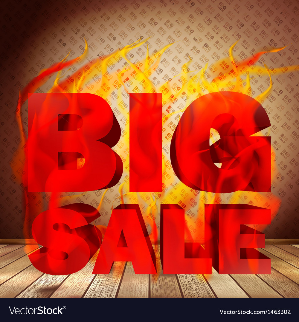 Big burn sale template interior vector | Price: 1 Credit (USD $1)