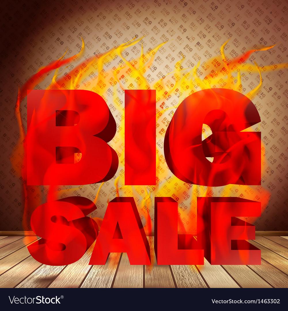 Big burn sale template interior vector | Price: 1 Credit (USD $1)