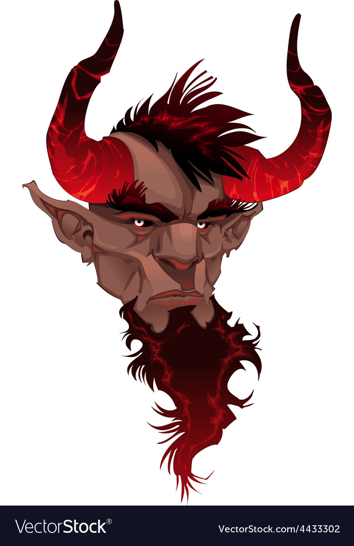 Devil face demons portrait vector | Price: 1 Credit (USD $1)