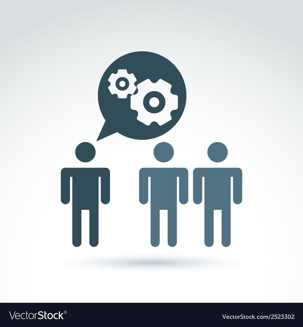 Gears - enterprise system theme organiza vector