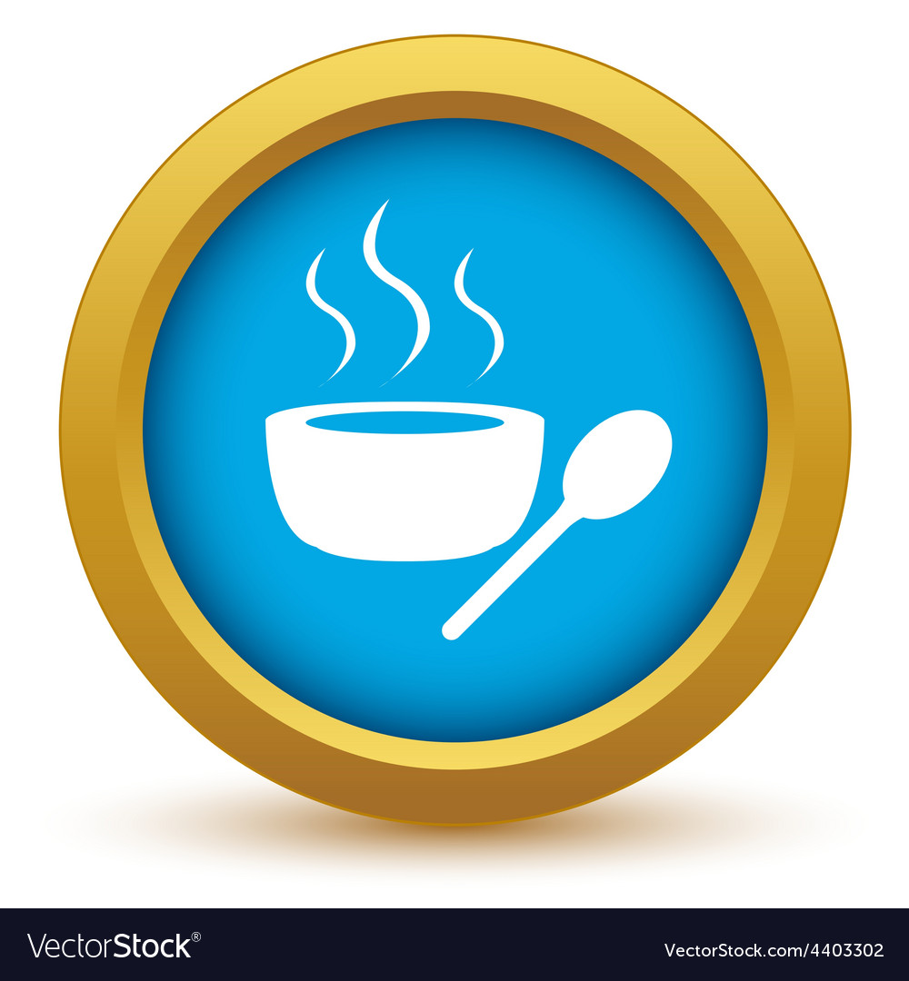 Gold soup icon vector | Price: 1 Credit (USD $1)
