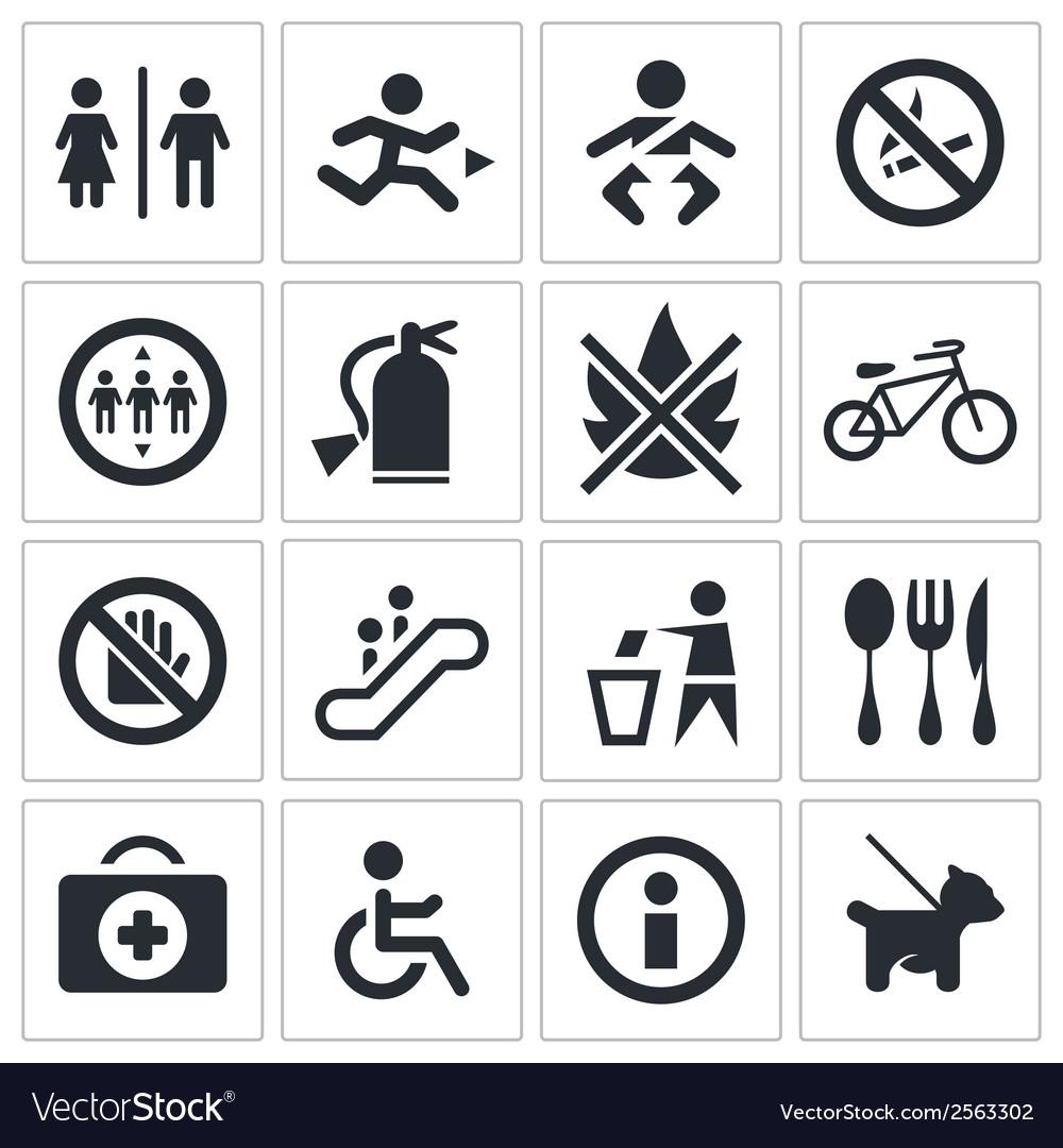 International signs icon set vector | Price: 1 Credit (USD $1)