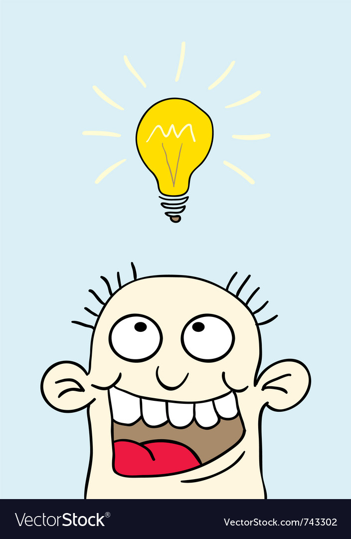 Light bulb over your head vector