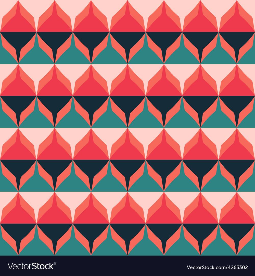 Retro zigzag seamless pattern vector | Price: 1 Credit (USD $1)