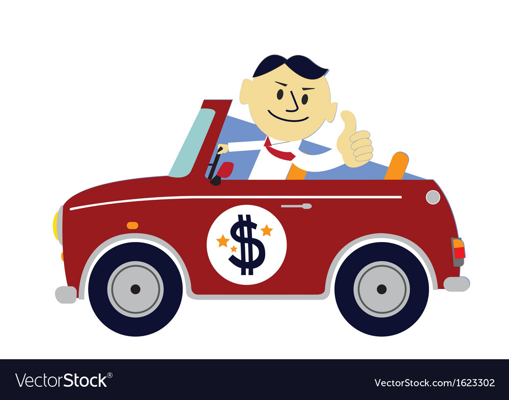 Rich man car vector | Price: 1 Credit (USD $1)