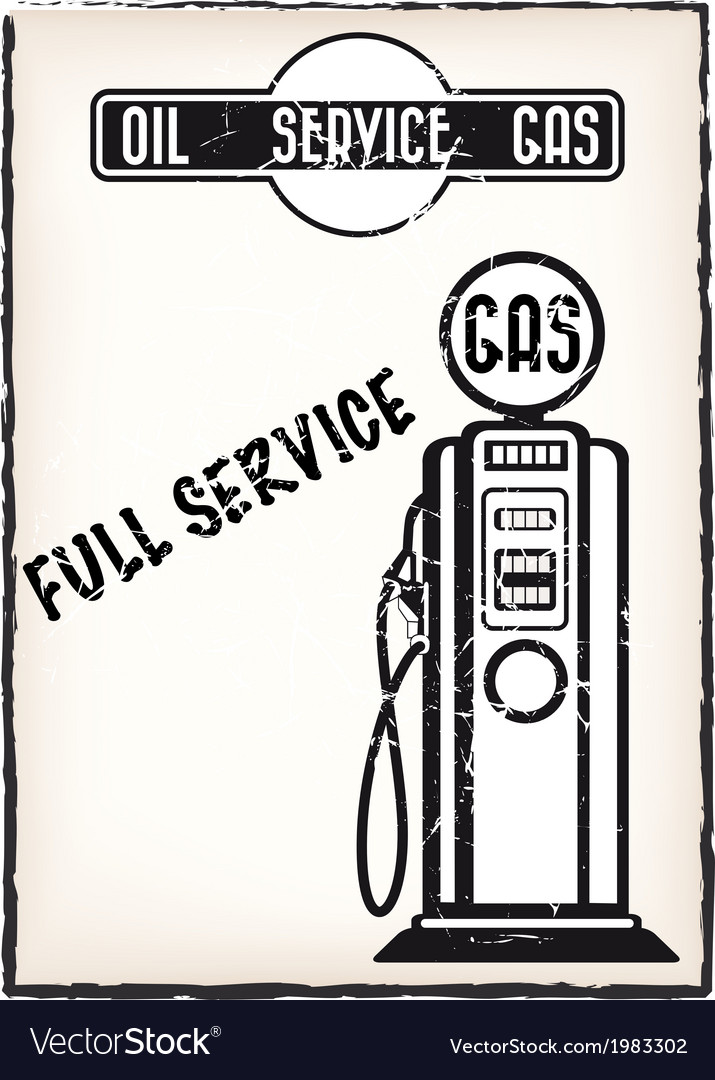 Service station poster vector | Price: 1 Credit (USD $1)