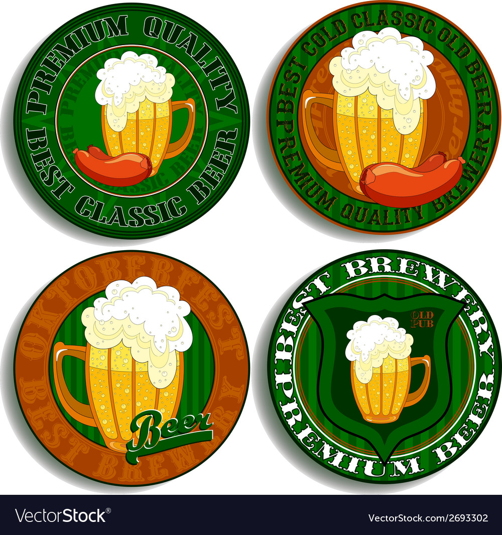 Set of beer tags vector | Price: 1 Credit (USD $1)