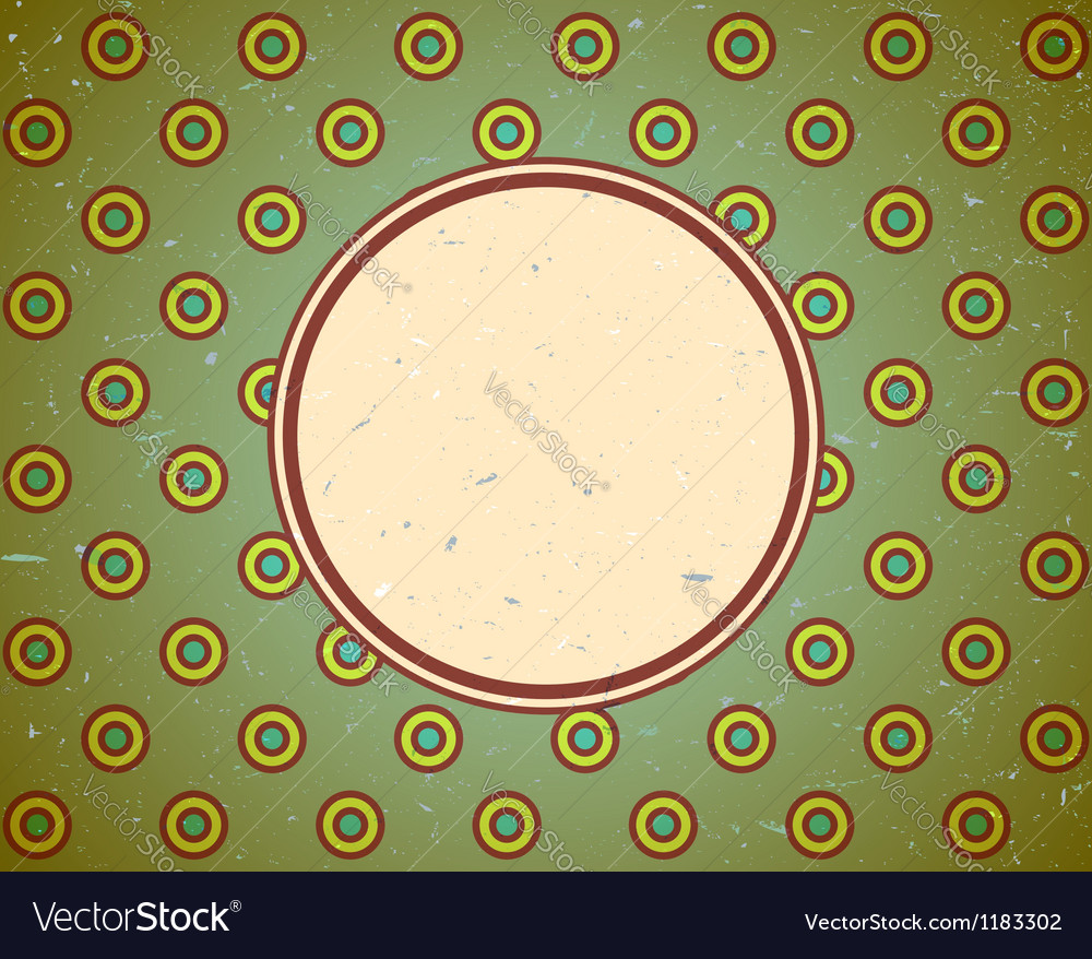 Vintage frame with circles vector | Price: 1 Credit (USD $1)
